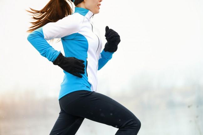 invierno deporte salir a correr